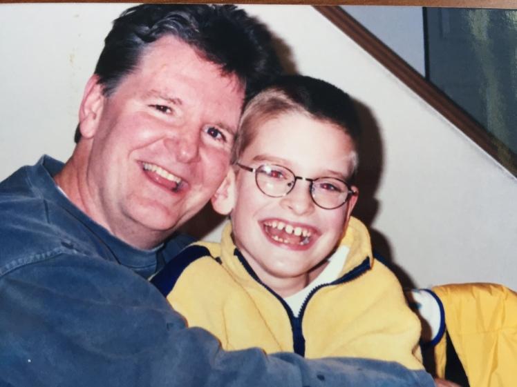 dad & j cuddling
